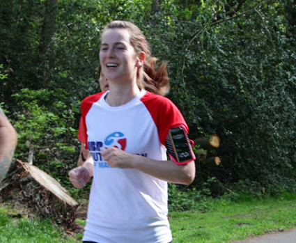 Rachael must be enjoying this run! Grinning like a Cheshire cat!